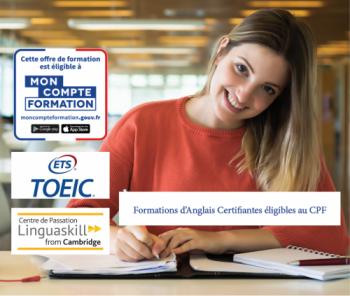 Formations et Cours d'anglais éligible au CPF